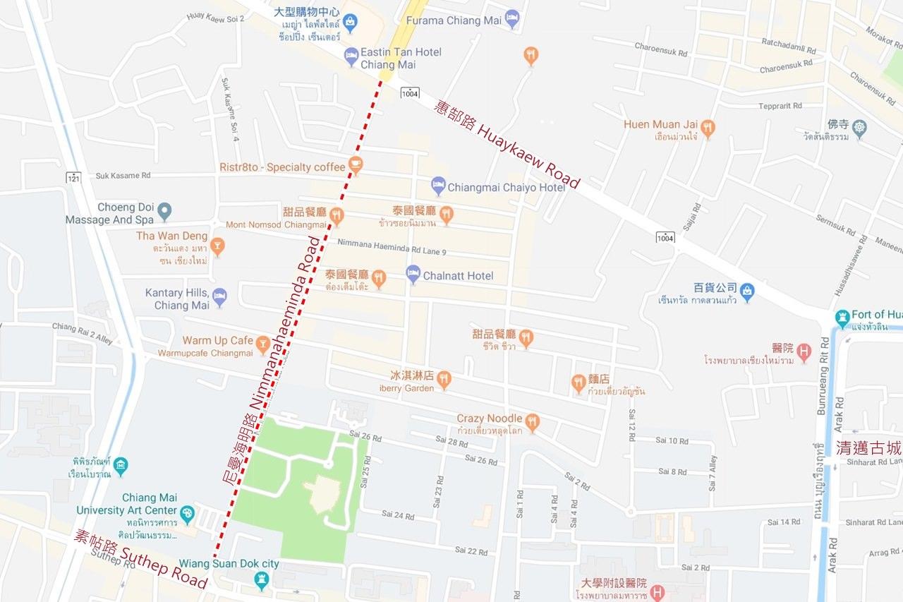 Nimmanahaeminda Road MAP