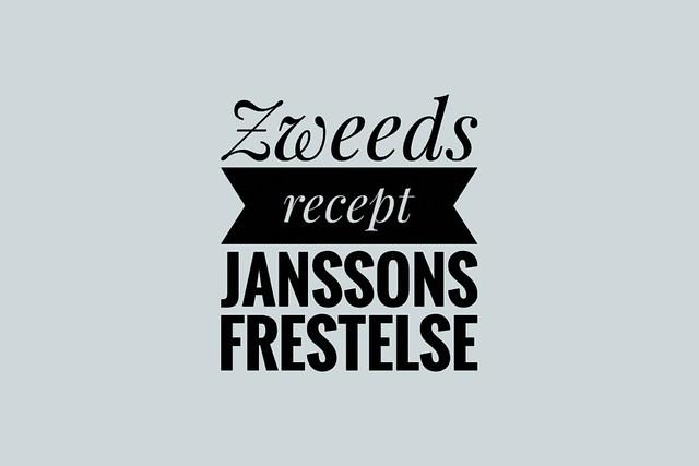Zweeds recept Janssons frestelse