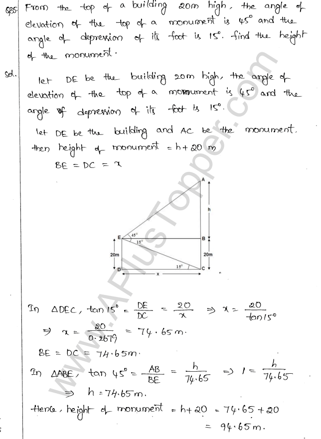 ml-aggarwal-icse-solutions-for-class-10-maths-chapter-21-heights-and-distances-38