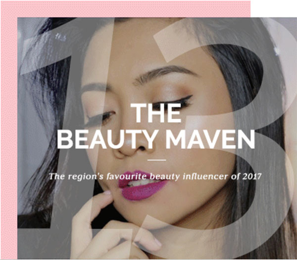 Clozette Beauty Awards - Beauty Maven of the Year 2017 - Gen-zel She Sings Beauty