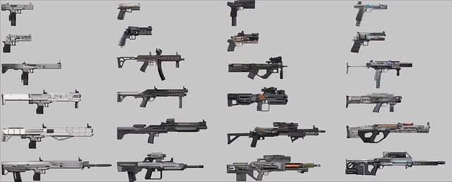 Living Dark - Liste d'armes