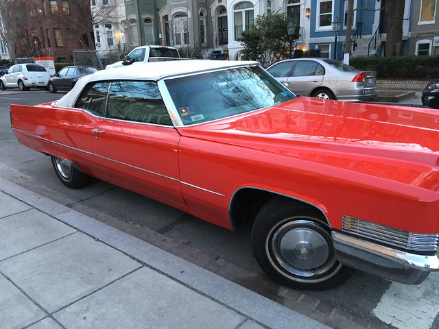 Red 1970 caddy