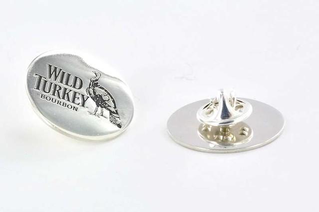 pins srebro średnica 20 mm grawer + oksyda