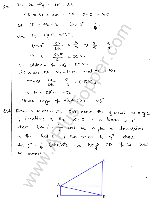 ml-aggarwal-icse-solutions-for-class-10-maths-chapter-21-heights-and-distances-33