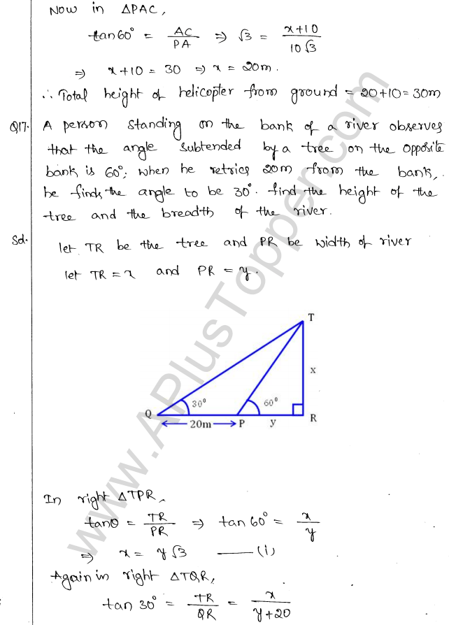 ml-aggarwal-icse-solutions-for-class-10-maths-chapter-21-heights-and-distances-16