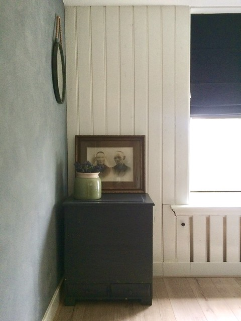 Kastje slaapkamer, oude familiefoto