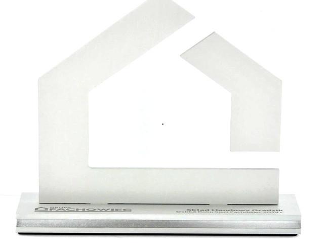 Fachowiec- Statuetki aluminium połączone z bezbarwną plexi