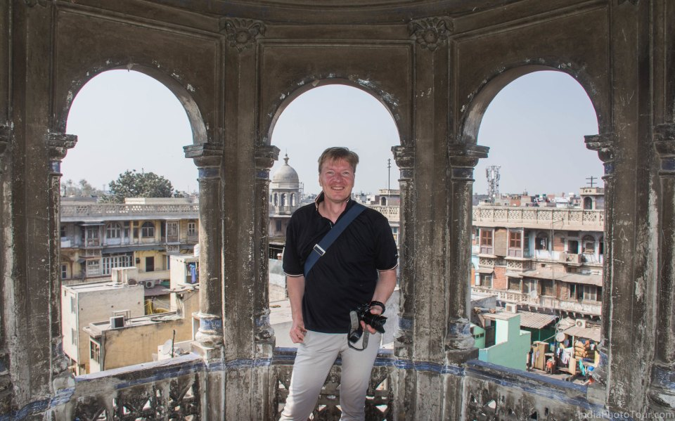 On the roof of chili market in spice market