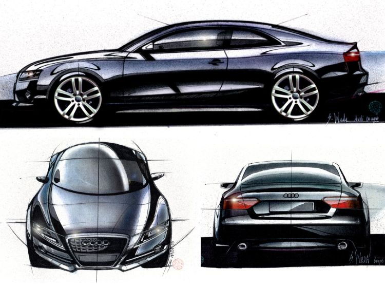 Audi A5 sketches by Satoshi Wada