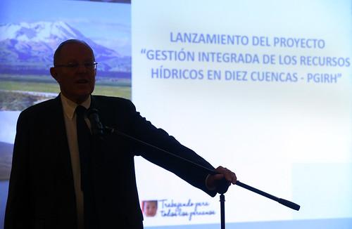 """Presidente Kuczynski participa en la presentación del proyecto """"Gestión Integrada de los Recursos Hídricos en Diez Cuencas - PGIRH"""""""