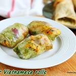 Paneer Vietnamese rolls