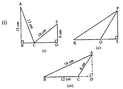 ML Aggarwal Class 9 Solutions for ICSE Maths Chapter 12 Pythagoras Theorem     15
