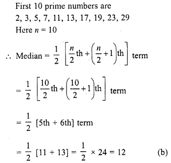 RD Sharma Class 10 Solutions Chapter 15 Statistics MCQS 17