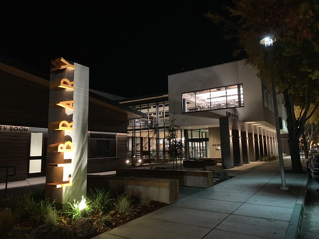 the library at night