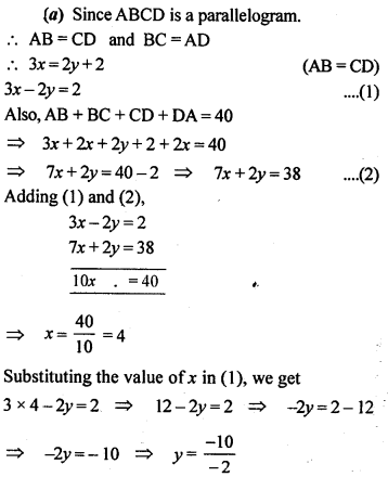 ML Aggarwal Class 9 Solutions for ICSE Maths Chapter 13 Rectilinear Figures  ex 5a