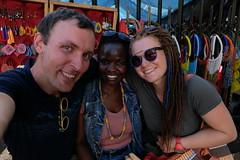 With Bev at masai market