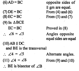 ML Aggarwal Class 9 Solutions for ICSE Maths Chapter 13 Rectilinear Figures  ex 18bh