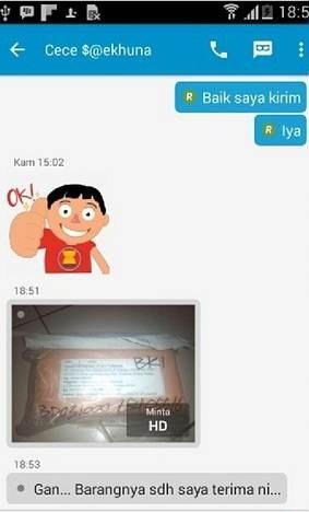 bukti pengiriman barang