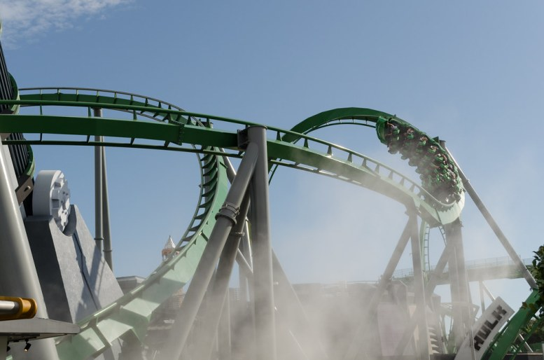 The Incredible Hulk Coaster @ Islands of Adventure, Orlando, EU. 2018.