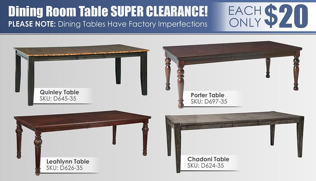 Factory Imperfect Tables