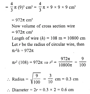 RD Sharma Class 10 Solutions Chapter 14 Surface Areas and Volumes  RV 21