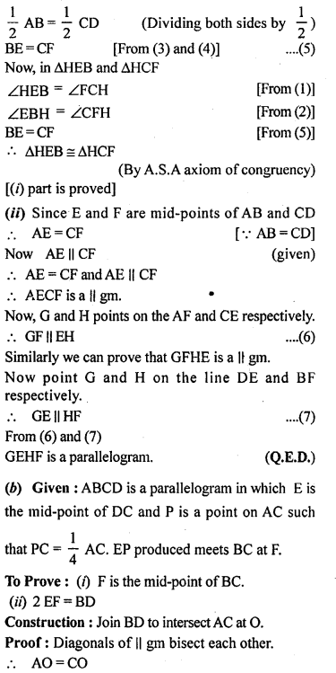 ML Aggarwal Class 9 Solutions for ICSE Maths Chapter 11 Mid Point Theorem    8b
