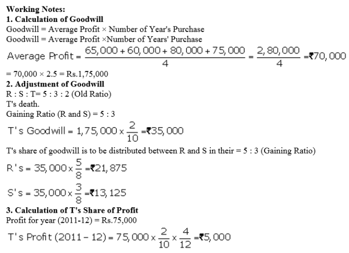 TS Grewal Accountancy Class 12 Solutions Chapter 5 Retirement Death of a Partner Q76.3