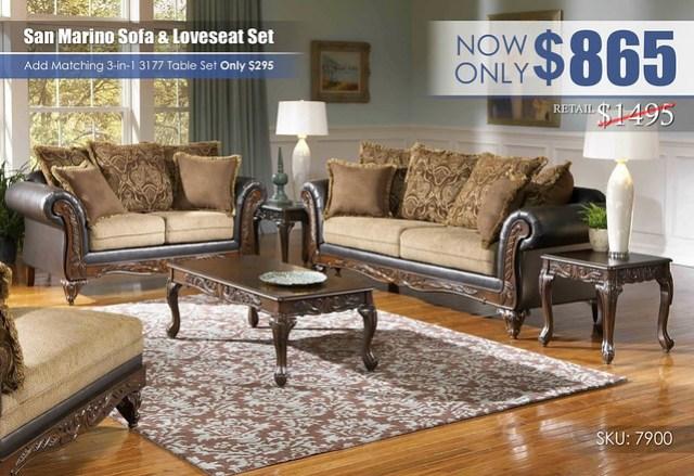 San Marino Sofa & Loveseat Set_7900