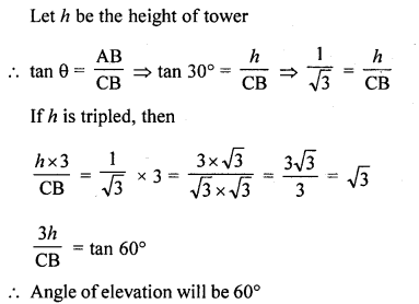 RD Sharma Class 10 Solutions Chapter 12 Heights and Distances VSAQS - 8a