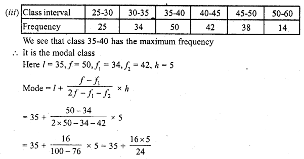 RD Sharma Class 10 Solutions Chapter 15 Statistics Ex 15.5 3c