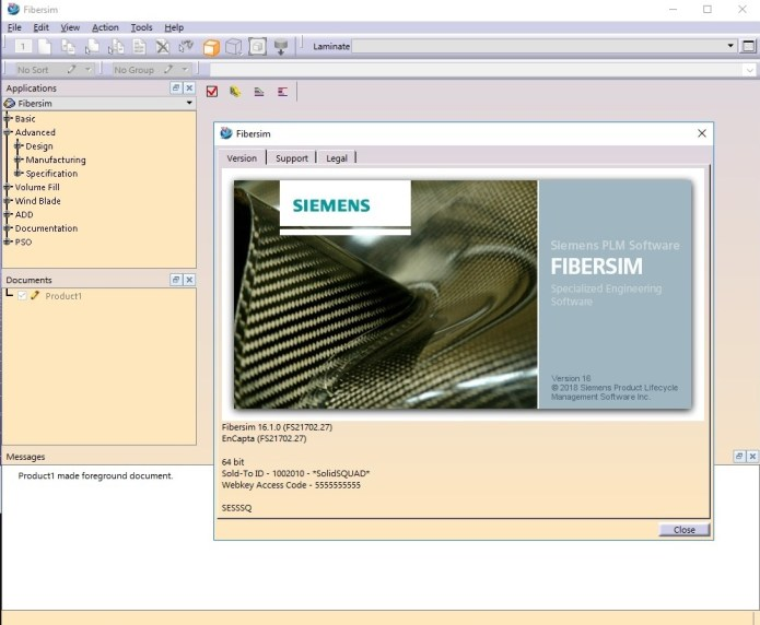 Working with Siemens FiberSIM 16.1.0 for Catia V5-Creo-NX full license