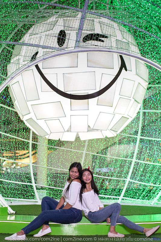 Christmas festival with duo girls. At centralwOrld