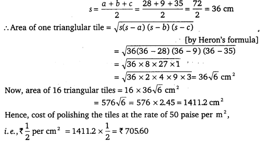 NCERT Solutions for Class 9 Maths Chapter 12 Heron's Formula 25