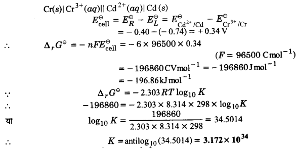 UP Board Solutions for Class 12 Chapter 3 Electro Chemistry 2Q.4.1