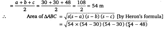 NCERT Solutions for Class 9 Maths Chapter 12 Heron's Formula 18