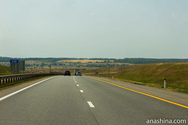 """Типичные пейзажи вдоль трассы М-4 """"Дон"""""""