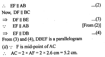 ML Aggarwal Class 9 Solutions for ICSE Maths Chapter 11 Mid Point Theorem    1d
