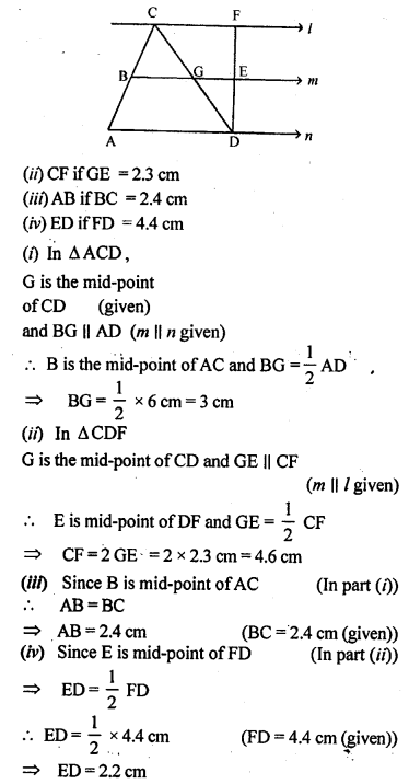 ML Aggarwal Class 9 Solutions for ICSE Maths Chapter 11 Mid Point Theorem    12b