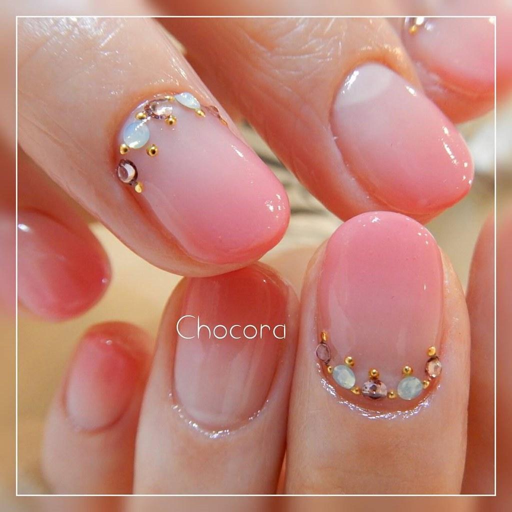 ♥ 漸層指甲的魅力!指上淡淡的暈開 5
