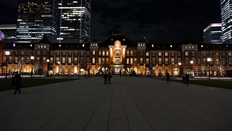 aspect ratio 16:9 Tokyo Station night view