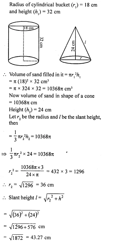 RD Sharma Class 10 Solutions Chapter 14 Surface Areas and Volumes Ex 14.1 34