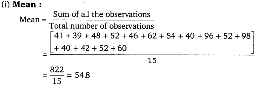 NCERT Solutions for Class 9 Maths Chapter 14 statistics 14