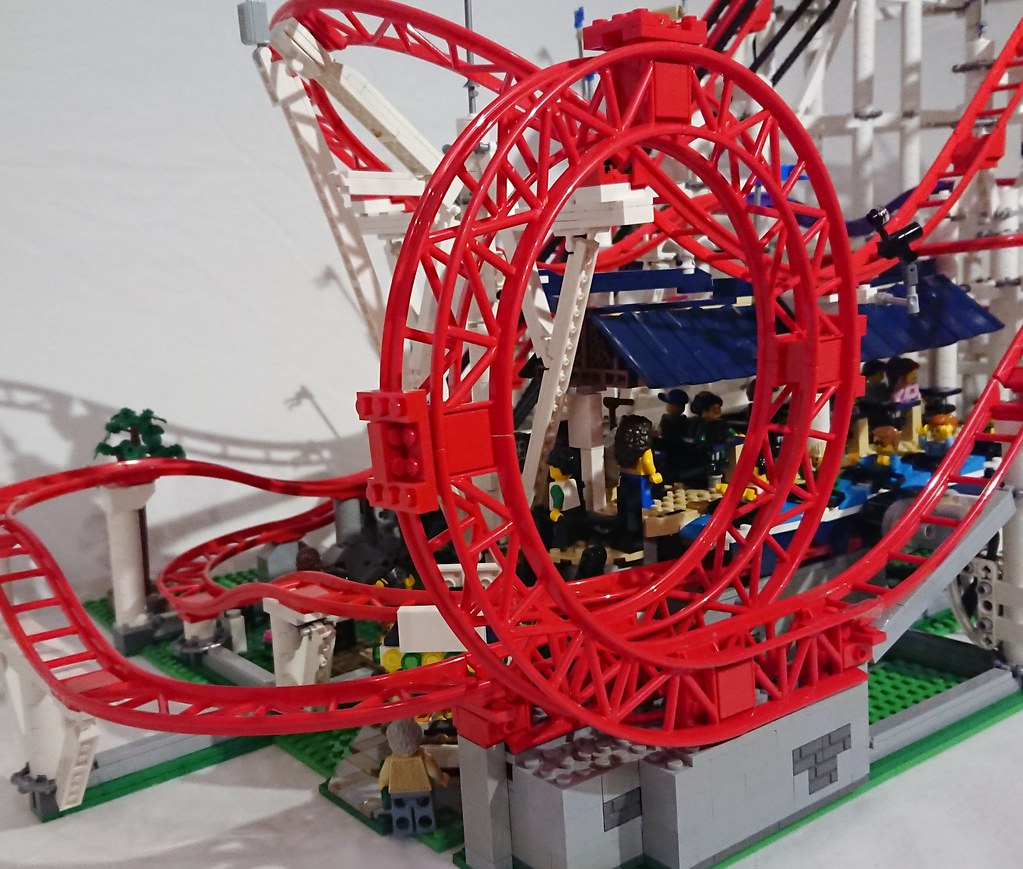 Das Ist Der Perfekte Lego Achterbahn Looping Zusammengebaut