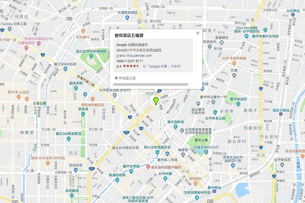 Inhouse Hotel Grand Map