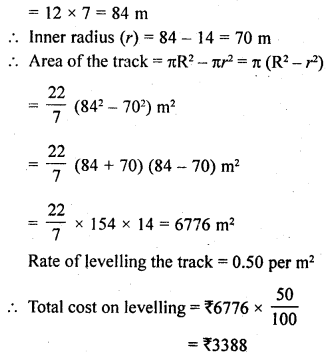RD Sharma Class 10 Solutions Chapter 13 Areas Related to Circles Ex 13.1 29a