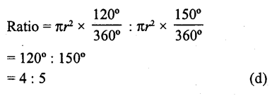 RD Sharma Class 10 Solutions Chapter 13 Areas Related to Circles MCQS -34a