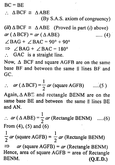 ML Aggarwal Class 9 Solutions for ICSE Maths Chapter 14 Theorems on Area    17c