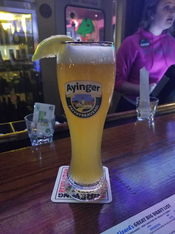 2019 Winking Lizard World Tour of Beers #9: Ayinger Brau-Weisse - It's like the lemon version of Blue Moon with a hint of champagne mouth feel.