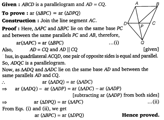 NCERT Solutions for Class 9 Maths Chapter 9 Area of parallelograms and Triangles 38