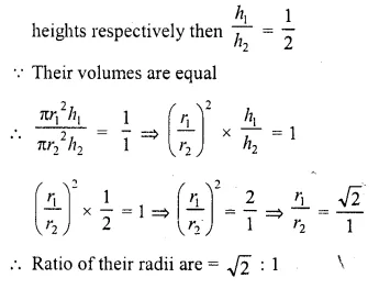 RD Sharma Class 10 Solutions Chapter 14 Surface Areas and Volumes  VSAQS 7